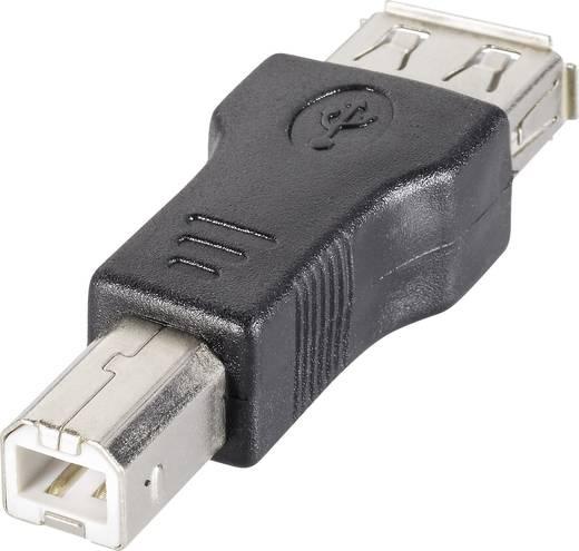 Goobay USB 2.0 Adapter [1x USB 2.0 stekker B - 1x USB 2.0 bus A] Zwart