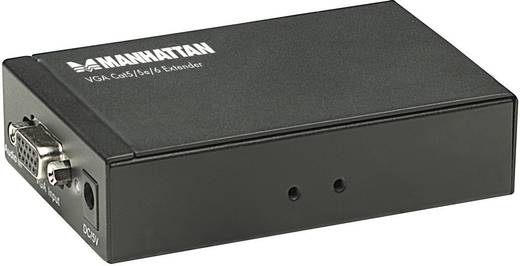Manhattan 177344 VGA Extender (verlenging) via netwerkkabel RJ45 300 m 1920 x 1200 pix