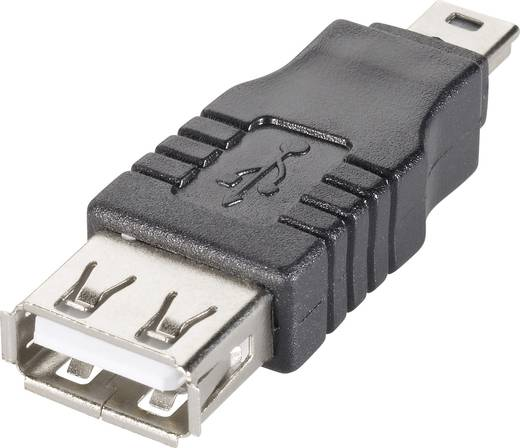 Goobay USB 2.0 Adapter [1x USB 2.0 stekker mini-B - 1x USB 2.0 bus A] Zwart