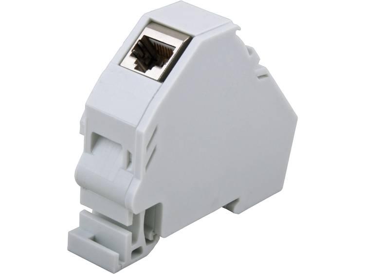 Netwerkdoos DIN-rails Leeg EFB Elektronik ET-25186.V2 Lichtgrijs