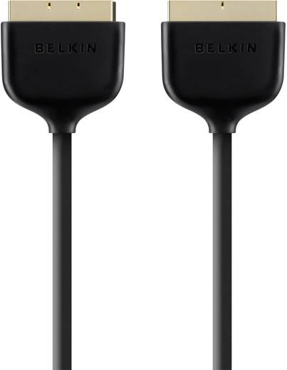 SCART TV, receiver Aansluitkabel [1x SCART-stekker - 1x SCART-stekker] 2 m Zwart Belkin