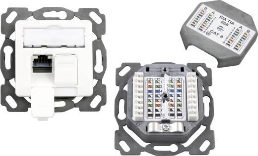 Netwerkdoos Inbouw Inzet met centraalstuk CAT 6A 2 poorten EFB Elektronik Zuiver wit