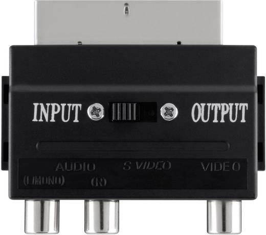 SCART / S-Video / Composite cinch TV, monitor Adapter [1x SCART-stekker - 3x Cinch-koppeling, S-video bus] 0 m Zwart Bel