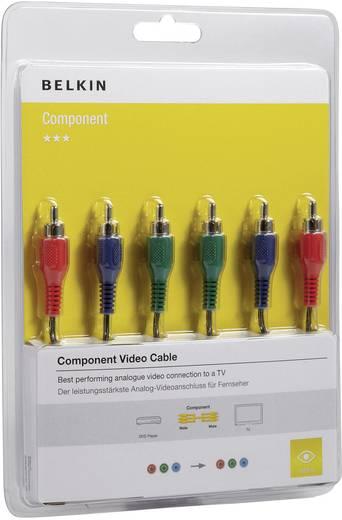 Component cinch Video Aansluitkabel [3x Cinch-stekker - 3x Cinch-stekker] 2 m Zwart Belkin