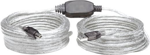 Manhattan Aansluitkabel [1x USB 2.0 stekker A - 1x USB 2.0 stekker B] 11 m Transparant