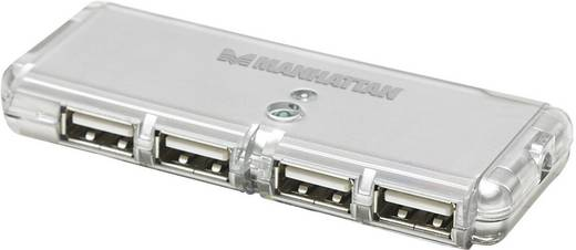 Manhattan 4 poorten USB 2.0 hub Zilver