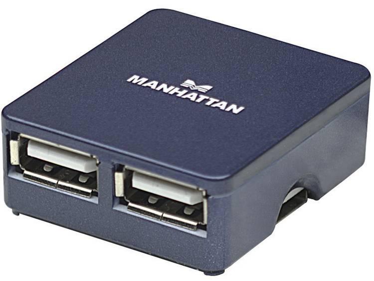 Manhattan USB 2.0 hub 4 poorten Blauw