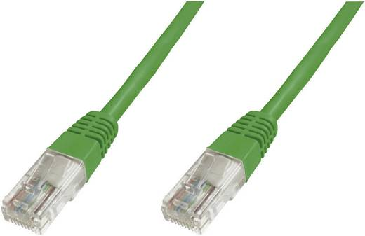 Digitus Professional RJ45 Netwerk Aansluitkabel CAT 6 U/UTP 5 m Groen UL gecertificeerd, Snagless