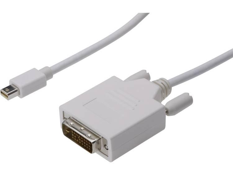 DisplayPort-DVI Aansluitkabel [1x Mini-DisplayPort stekker => 1x DVI-stekker 24+1-polig] 3 m Wit