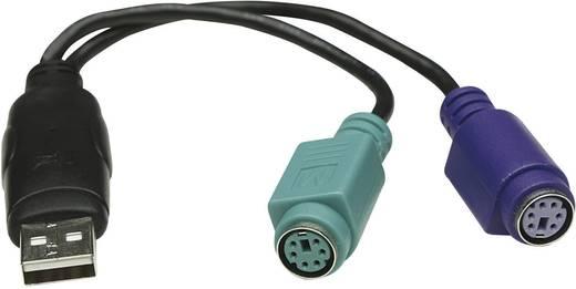 Manhattan PS/2 / USB Toetsenbord/muis Aansluitkabel 0.20 m Zwart