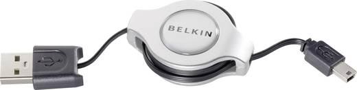 Belkin USB 2.0 Aansluitkabel [1x USB 2.0 stekker A - 1x USB 2.0 stekker mini-B] 1 m Zwart Incl. oproller