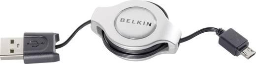 Belkin USB 2.0 Aansluitkabel [1x USB 2.0 stekker A - 1x USB 2.0 stekker micro-B] 1 m Zwart Incl. oproller