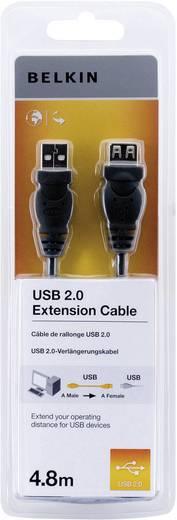 Belkin USB 2.0 Verlengkabel [1x USB 2.0 stekker A - 1x USB 2.0 bus A] 4.80 m Zwart UL gecertificeerd