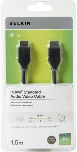 HDMI Aansluitkabel Belkin F3Y017cp1.5MBLK [1x HDMI-stekker - 1x HDMI-stekker] 1.50 m Zwart