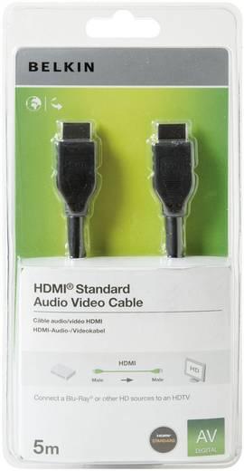 HDMI Aansluitkabel Belkin F3Y017cp5M-BLK [1x HDMI-stekker - 1x HDMI-stekker] 5 m Zwart