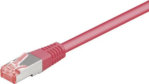 Goobay RJ45 Netwerk Aansluitkabel CAT 6 S/FTP 0.25 m Magenta Vlambestendig, Snagless