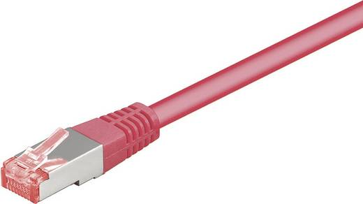 Goobay RJ45 Netwerk Aansluitkabel CAT 6 S/FTP 1.50 m Magenta Vlambestendig, Snagless