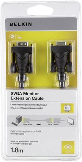 VGA Verlengkabel Belkin [1x VGA stekker - 1x VGA bus] 1.80 m Zwart