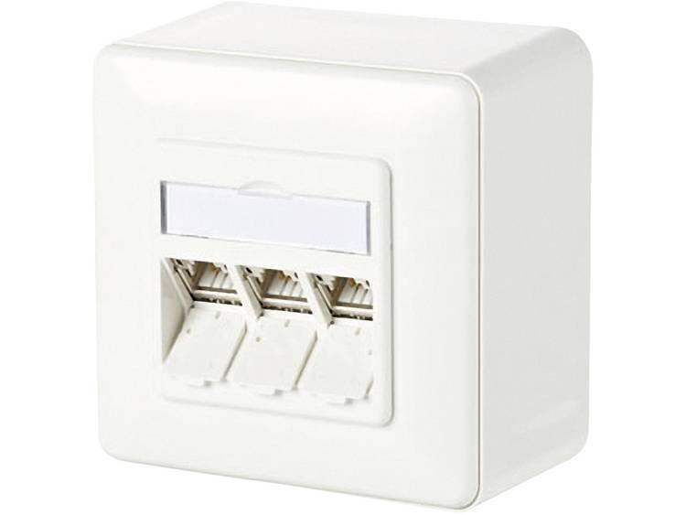 Metz Connect 130B11D30002-E Netwerkdoos Opbouw CAT 6A 3 poorten Zuiver wit