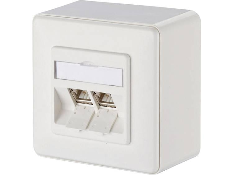 Metz Connect 130B12D20002-E Netwerkdoos Opbouw CAT 6A 2 poorten Zuiver wit