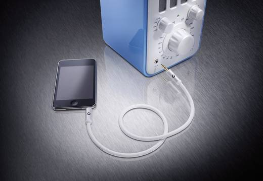 Oehlbach i-Connect JackplugVerlengkabelJackplug male 3.5 mm / Jackplug female 3.5 mmWit<br