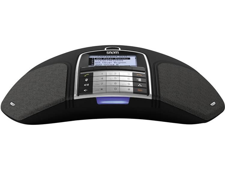 snom VoIP-conferentietelefoon (12 SIP-accounts, verlicht display, zwart)