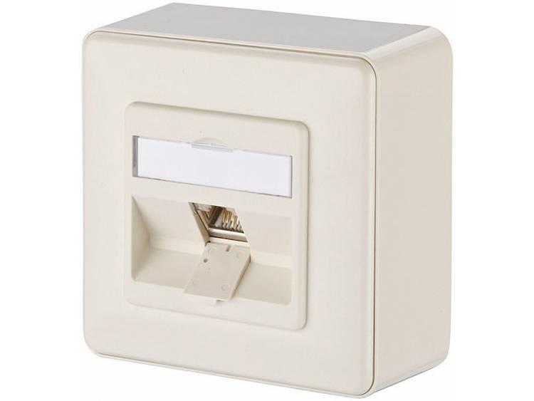 Metz Connect 1309110001-E Netwerkdoos Opbouw CAT 6 1 poort Parel-wit