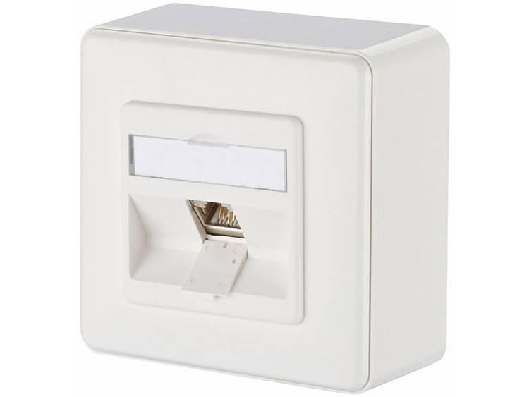Metz Connect 1309110002-E Netwerkdoos Opbouw CAT 6 1 poort Zuiver wit
