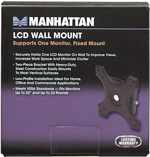 "Manhattan 422840 Monitor-wandbeugel 30,5 cm (12"") - 55,9 cm (22"") Vast"