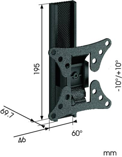 """TV-beugel Vogel´s WALL 1020 43,2 cm (17"""") - 66,0 cm (26"""") Kantelbaar en zwenkbaar"""
