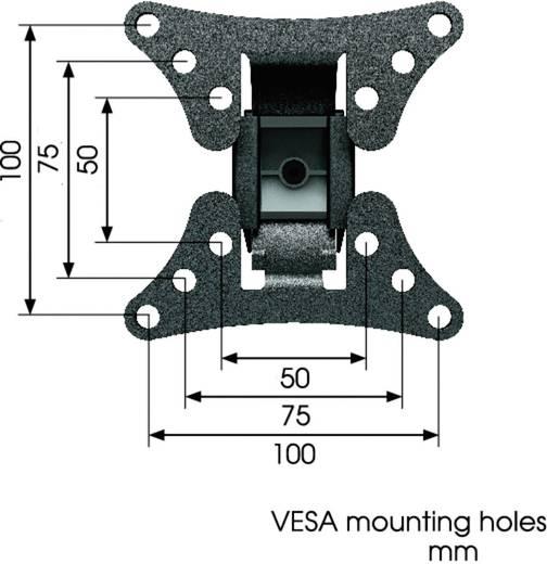 """Vogel´s WALL 1020 TV-beugel 43,2 cm (17"""") - 66,0 cm (26"""") Kantelbaar en zwenkbaar"""