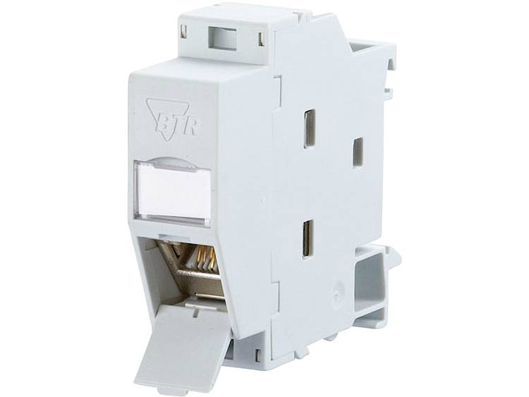Netwerkdoos DIN-rails CAT 6A Metz Connect 1309107003-E Grijs-wit (RAL 7035)