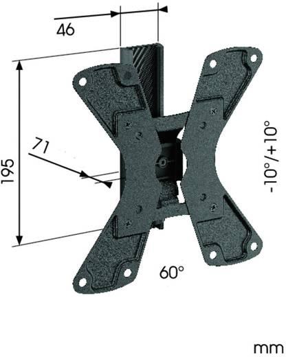 """TV-beugel Vogel´s WALL 1120 48,3 cm (19"""") - 94,0 cm (37"""") Kantelbaar en zwenkbaar"""