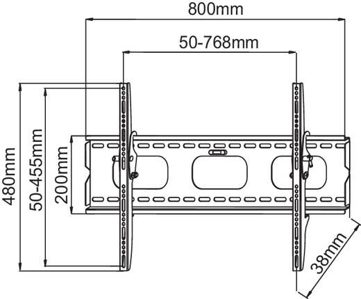 "Manhattan 424752 TV-beugel 94,0 cm (37"") - 177,8 cm (70"") Kantelbaar"