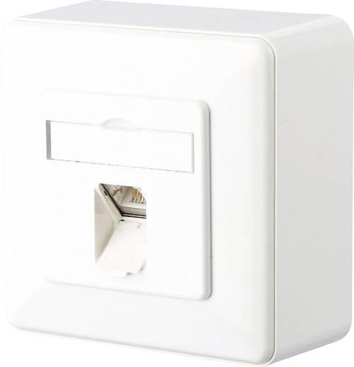 Metz Connect 1307370002-I Netwerkdoos Opbouw CAT 6 1 poort Zuiver wit