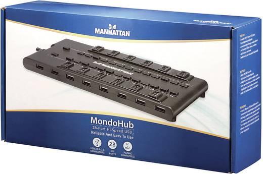 Manhattan 28 poorten USB 3.0-, USB 2.0-combi-hub Zwart