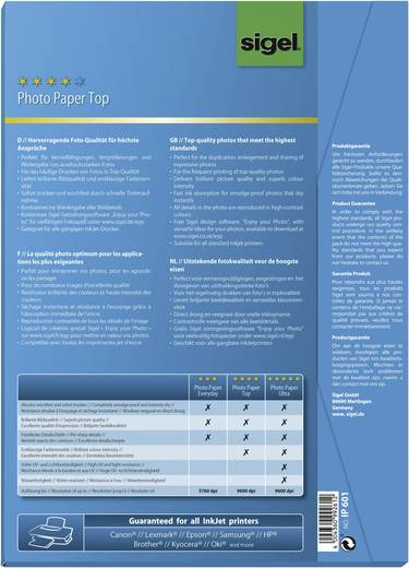 Sigel fotopapier Top IP601 DIN A4 170 g/m² Hoogglans 50 vellen