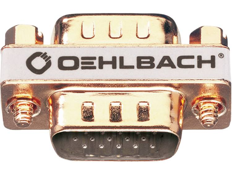 Oehlbach VGA Adapter [1x VGA stekker <=> 1x VGA stekker] Goud
