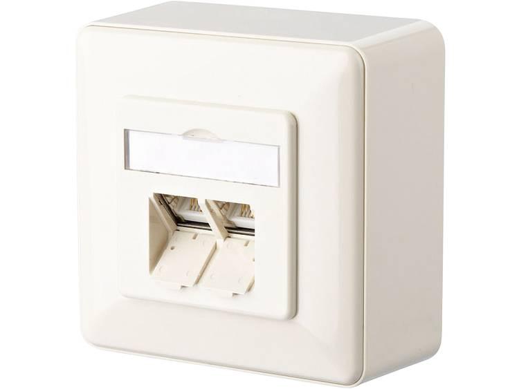 Metz Connect 1307440001-I Netwerkdoos Opbouw CAT 6 2 poorten Parel-wit