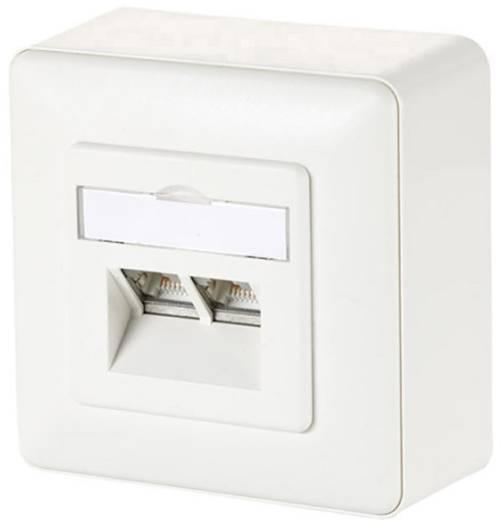 Metz Connect 1307440002-I Netwerkdoos Opbouw CAT 6 2 poorten Zuiver wit
