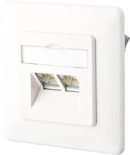 Netwerkdoos Inbouw Inzet met centraalstuk en frame Leeg 2 poorten Metz Connect 1307441002-I Zuiver wit