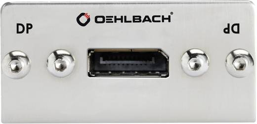 Oehlbach Pro In DisplayPort-bus op DisplayPort-bus multimedia-inzetstuk