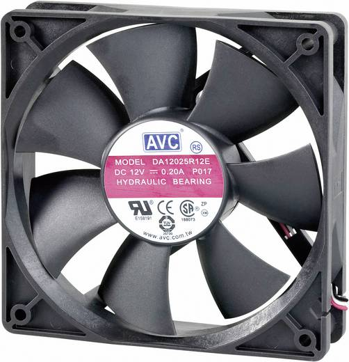 AVC F12025 PC ventilator (b x h x d) 120 x 120 x 25 mm