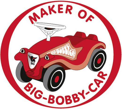 BIG New Bobby Car-aanhanger rood