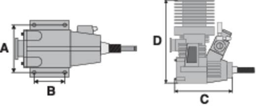 Force Engine nitromotor 21 Black Series vermogen 1.9 pk / 1.4 kW cilinderinhoud uitlaatpoort Achterkant