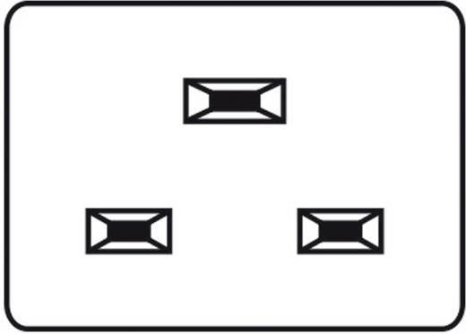 Kaiser Apparaatstekker C20 Stekker, inbouw verticaal Totaal aantal polen: 2 + PE 16 A Zwart 1 stuks
