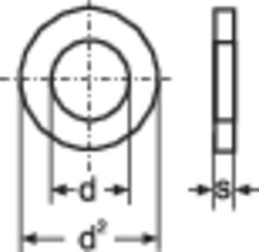 TOOLCRAFT 814687 Onderlegringen Binnendiameter: 5.3 mm M5 DIN 125 Staal verzinkt 100 stuks