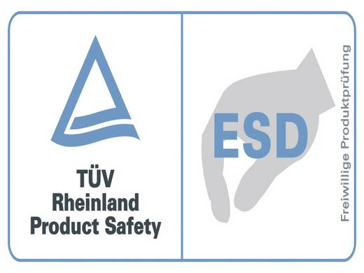 VOMM 3611 ESD-pincet 2a SA-ESD Plat-rond 120 mm