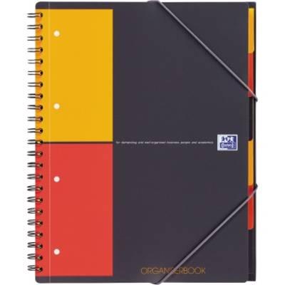 6594a329 Oxford Zeszyt studencki 100102777 szary, pomarańczowy, czerwony DIN A4+ w  kratkę Ilość arkuszy: 80
