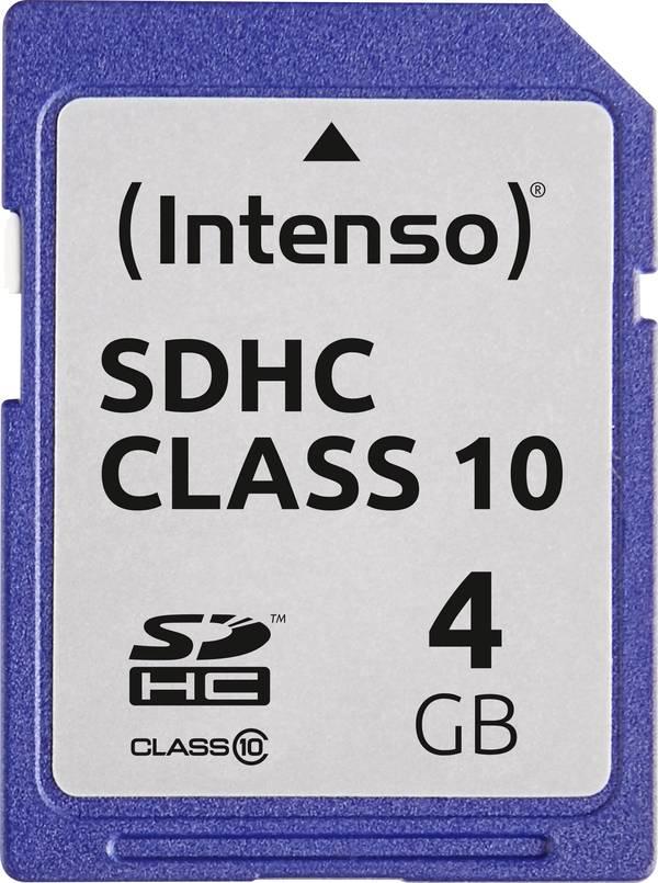 Karta Pamieci Sdhc Intenso 3411450 4 Gb Class 10 20 Mb S 12 Mb